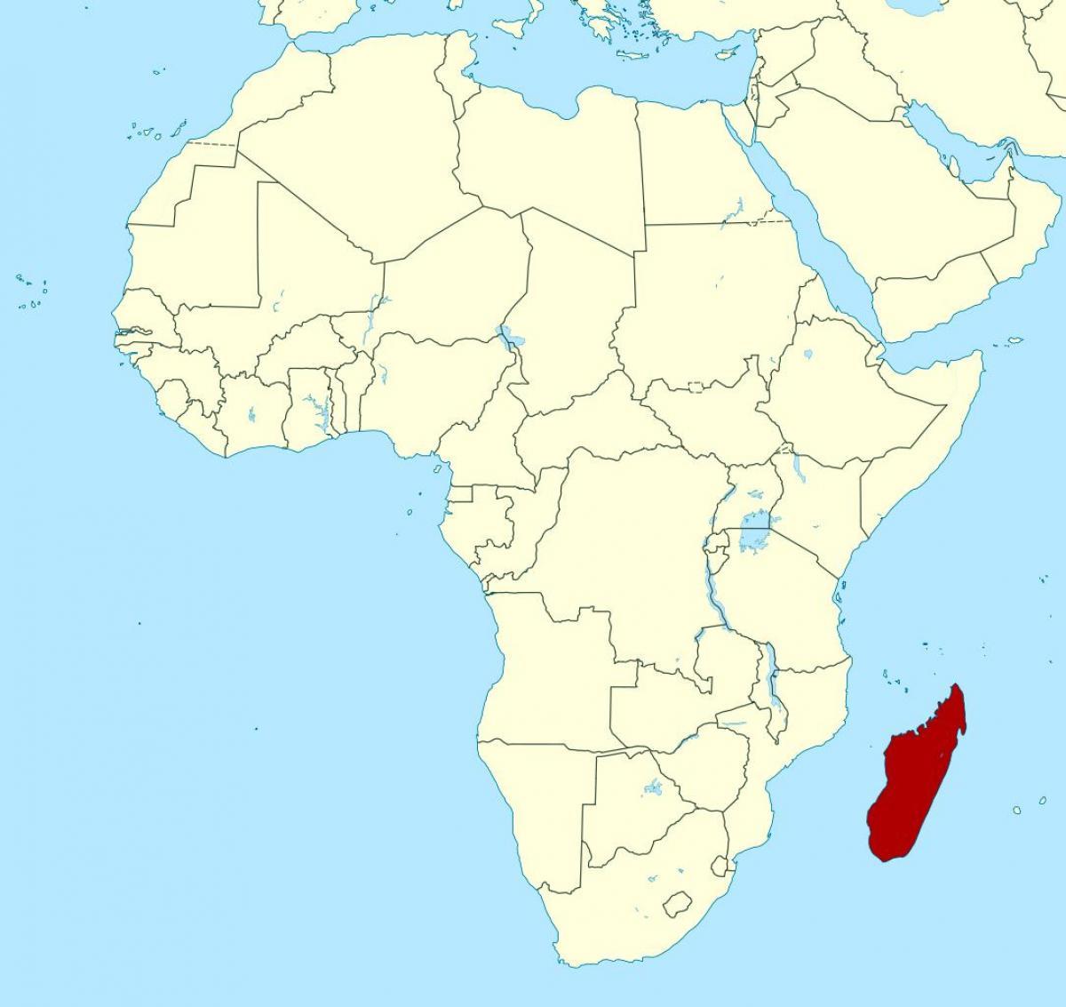 Madagaskar Afrika Mapa Madagaskar Afrika Mapa Vychodni Afrika